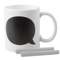 Mug ardoise personnalisé 300 ml avec deux craies