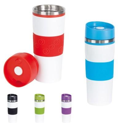 Mug isotherme personnalisé 400 ml bicolore Mug de voyage publicitaire