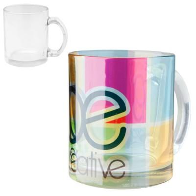 Mug en verre personnalisé en sublimation quadri Mug verre translucide publicitaire