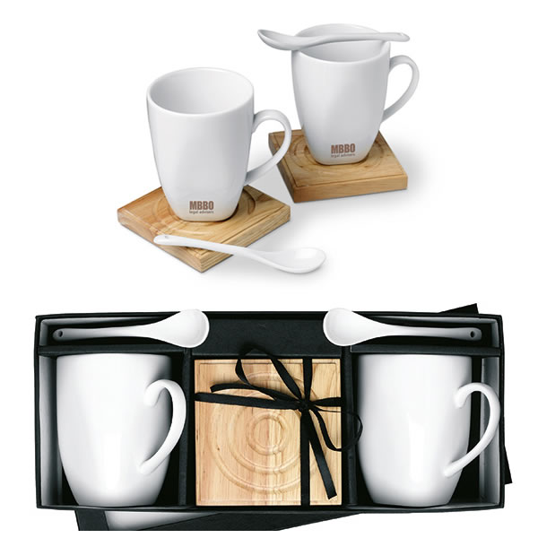 set 2 mugs cuill res objet publicitaire gourde mug isotherme goodies personnalis. Black Bedroom Furniture Sets. Home Design Ideas