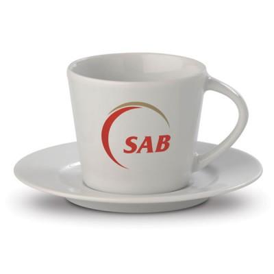 Tasse expresso puersonnalisé avec sous-tasse pour restaurant hôtel café