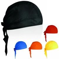 Bandana personnalisé publicitaire coloris : noir bleu orange jaune rouge