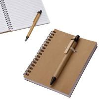 Bloc notes A6 publicitaire personnalisé à spirales avec stylo bille