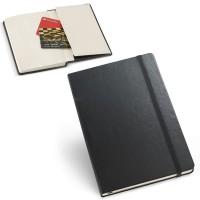 Bloc-notes publicitaaire personnalisé noir avec poche carte de visites