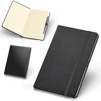 Bloc-notes personnalisé couverture simili cuir avec stylo bille métal publicitaire