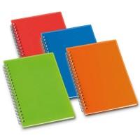 Cahier à spirale personnalisé pour notes avec couverture couleur bleu ou vert ou orange ou rouge
