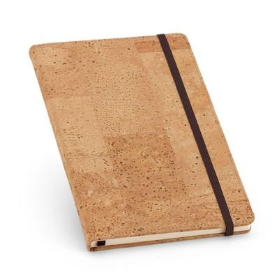 Bloc-notes cahier avec couverture en liège personnalisé publicitaire