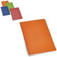 Cahier personnalisable avec couverture couleur : bleu vert, orange, rouge publicitaire