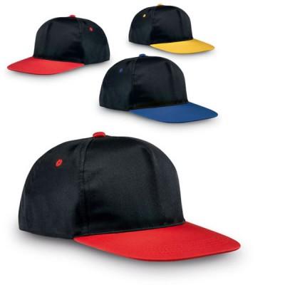 Casquette Snapback personnalisé visière rouge bleu jaune Snapback Publitaire pas cher
