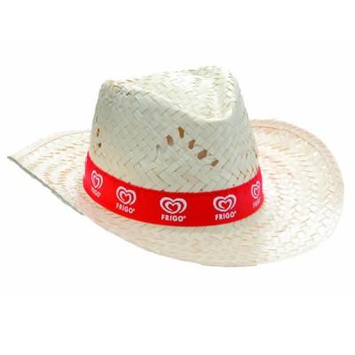 Chapeau paille personnalisé sur bandeau cousu en sublimation