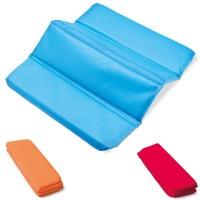 Coussin de stade pliable publicitaire personnalisé coloris : bleu orange rouge