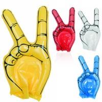 Main géante gonflable personnalisé publicitaire pour supporter coloris bleu blanc rouge jaune