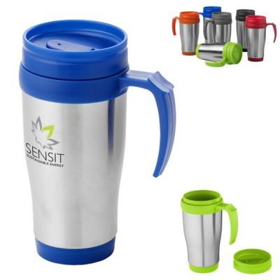 Mug de voyage personnalisé pas cher Mug isotherme publicitaire métal couleur 330 ml