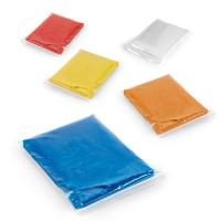 Poncho jetable de pluie publicitaire coloris : bleu rouge jaune orange blanc