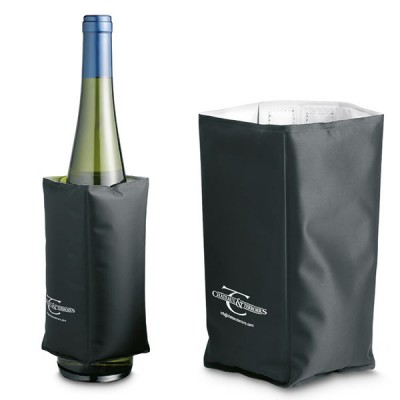 Collier rafraîchissant à vin personnalisé publicitaire noir