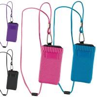 Tour de cour smartphone personnalisé publicitaire convient à tous les téléphone portable. Coloris noir, bleu, rose, violet
