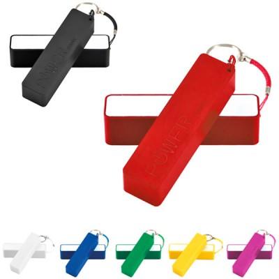 Batterie de secours 2000 mAh personnalisé publicitaire pas cher. Power bank blanc, noir, bleu, vert, jaune, rouge, rose. Batterie téléphone petite quantité.