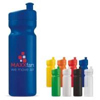 Bidon sport 750 ml publicitaire personnalisable, coloris : noir, blanc, bleu, vert, jaune, orange, rouge