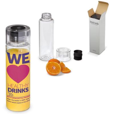Bouteille tritan personnalisable publicitaire transparente 580 ml étanche pour club de sports, spa, bureau, randonnée