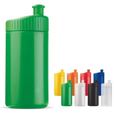 Bidon sport et cycliste personnalisable publicitaire pas cher 500 ml, coloris noir, blanc, bleu, vert, jaune, orange, rouge