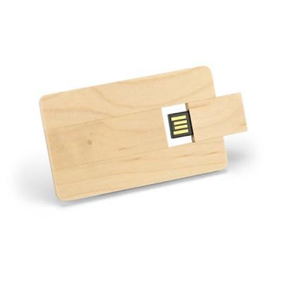 Clé USB carte de crédit en bois publicitaire personnalisé pas cher grande capacitée 2 Go à 32 Go