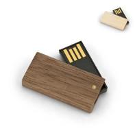 Clé USB en bois personnalisé pas cher avec protection rotative Twister