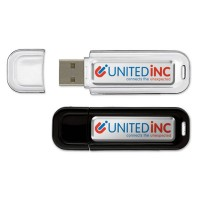 Clé USB publicitaire pas cher personnalisé en quadri doming coloris noir blanc