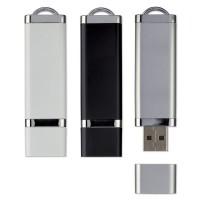 Clé USB publicitaire avec capuchon, capacité 1 Go ou 2 Go ou 4 Go ou 8 Go ou 16 Go, coloris noir, blanc, gris