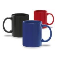 Mug couleur uni (noir, bleu, rouge) personnalisable publicitaire pas cher