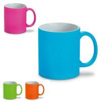 Mug personnalisable aux couleurs pastel bleu, vert, orange, rose publicitaire