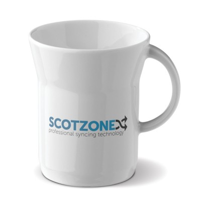 Mug design publicitaire personnalisé blanc