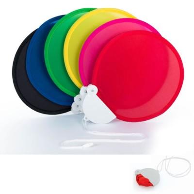 Eventail pliable personnalisable publicitaire, coloris : noir, bleu, vert, jaune, rouge, rose