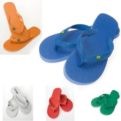 Tongs personnalisable publicitaire Brasil, coloris ; blanc, bleu, vert, orange, rouge