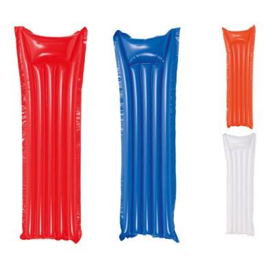 Matelas gonflable personnalisé publicitaire pour plage et piscine pas cher, coloris : blanc, bleu, rouge, orange