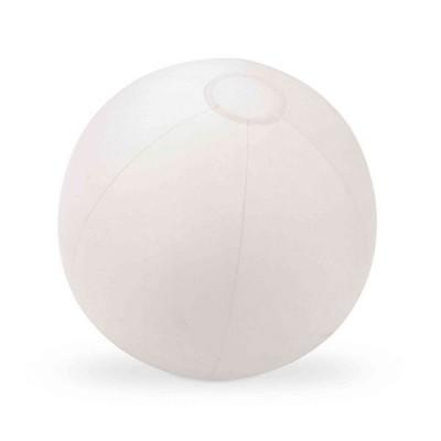 Ballon gonflable blanc uni personnalisé publicitaire. Jeux de plage publicitaire