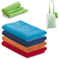 Serviette en coton avec sac shopping personnalisable publicitaire