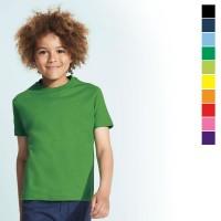 Tee-shirt enfant publicitaire Impérial Sol's 190 Grs. T-shirt personnalisé coloris : noir, bleu marine, bleu clair, vert, jaune, orange, rouge, rose, violet