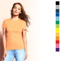 Tee-shirt femme personnalisé Regent Sol's. T-shirt publicitaire femme, coloris noir, gris, bleu marine, bleu royal, bleu clair, vert, vert clair, jaune, orange, rouge, marron, bordeaux, violet, rose