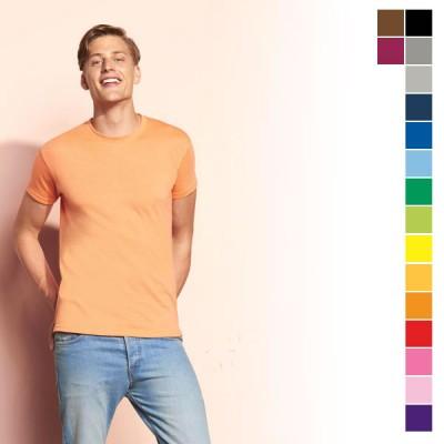 Tee-shirt personnalisé homme Regent Sol's 150 grs. T-shirt publicitaire pas cher, coloris noir, bleu, vert, orange, jaune, rouge, rose, bordeaux, gris