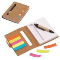 Bloc notes adhésives avec stylo personnalisé