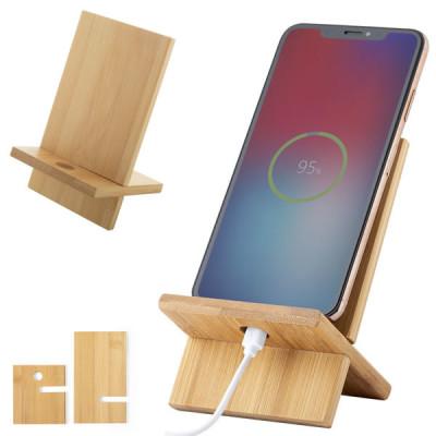 support téléphone bambou personnalisable publicitaire