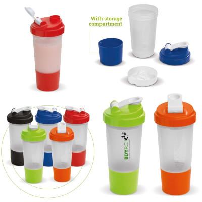 Shaker sport avec compartiment proteine sport personnalisable publicitaire
