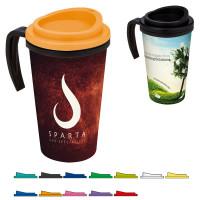 Mug isotherme à poignée personnalisable avec logo quadri ou photographie publicitaire personnalisé