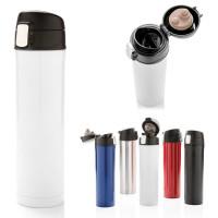 Bouteille isotherme 450 ml publcitaire personnalisé blanc, noir, bleu, rouge, argenté