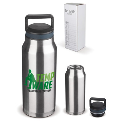 bouteille thermos 1 litre objet publicitaire gourde mug isotherme goodies personnalis. Black Bedroom Furniture Sets. Home Design Ideas