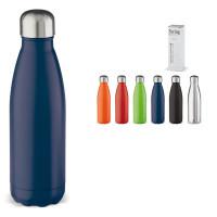 Bouteille thermos 500 ml publcitaire coloris noir, argenté, bleu, vert, orange, rouge