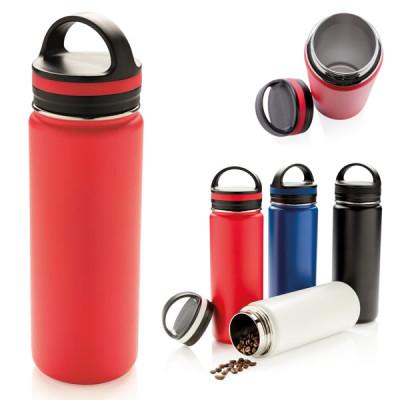 Bouteille isotherme 500 ml publcitaire personnalisé blanc, bleu, noir, rouge