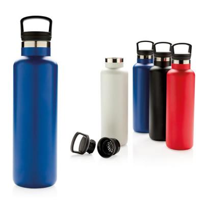Bouteille isotherme 600 ml personnalisé publcitaire, coloris blanc, noir, bleu
