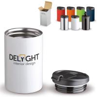 Petit mug isotherme personnalisé publcitaire pas cher coloris noir, blanc, bleu, vert, orange, rouge