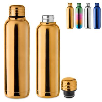 Bouteille thermos doré personnalisable publicitaire pas cher